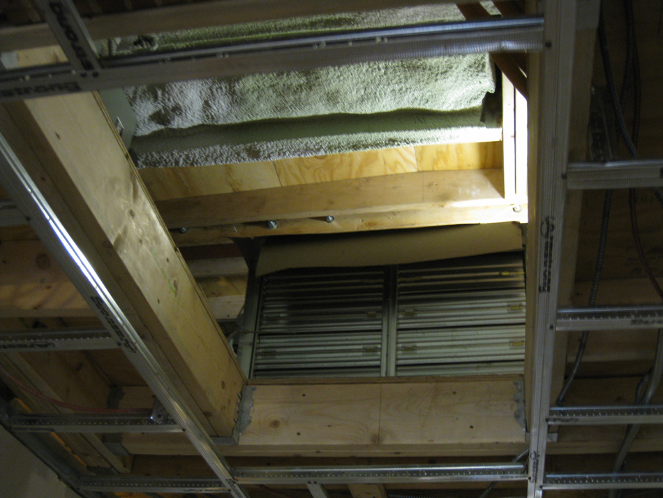 Third Floor--Detail of air conditioning unit in ceiling - April 9, 2011