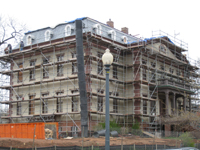 Elevation--South west corner showing newly painted exterior - April 9, 2011