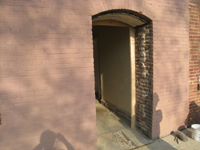 Elevation--East door with curved frame - April 20, 2011