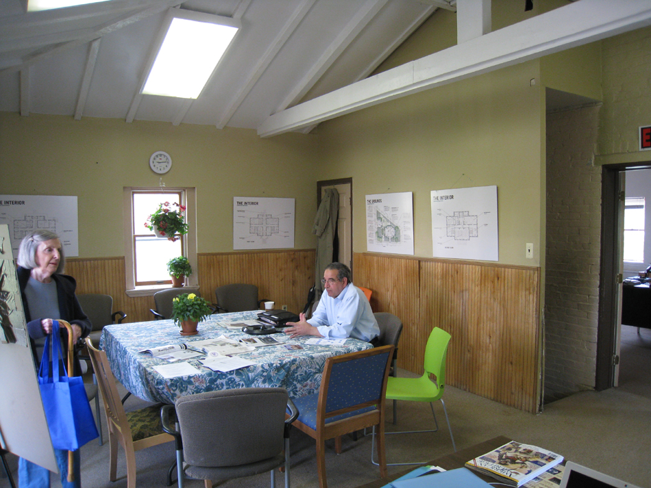 Carriage House--Second Floor, west room (with Hill Center Board members), looking north - April 20, 2011