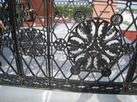 Roof--Detail of ironwork in Widow's Walk - April 29, 2011