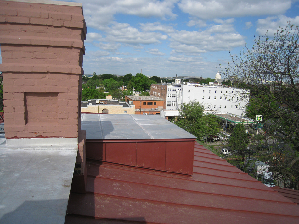 Roof--View towards the Capitol from Widow's Walk north edge - April 29, 2011