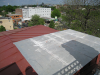 Roof--Looking west from Widow's Walk, with elevator enclosure in foreground - April 29, 2011