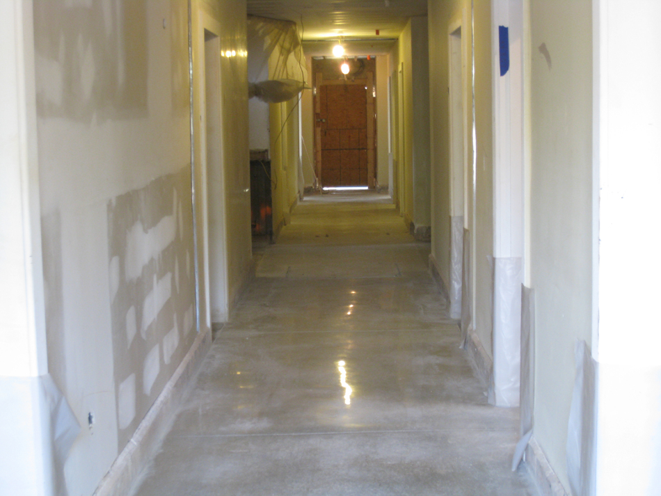 Ground Floor--Polished concrete floor - April 29, 2011