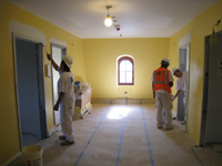 Third Floor--East end of corridor, final painting - May 11, 2011