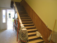 First Floor--Sanded staircase - May 23, 2011