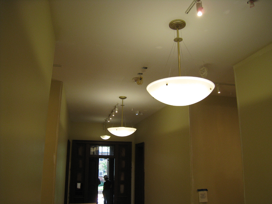First Floor--Main northsouth corridor--light detail - May 23, 2011