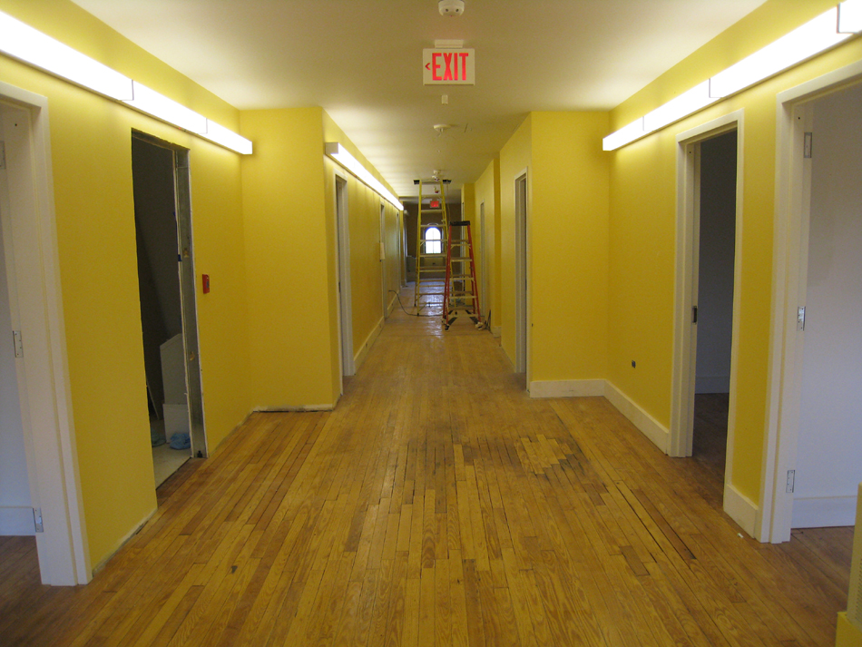 Third Floor--Main corridor from east looking west—finished - May 23, 2011