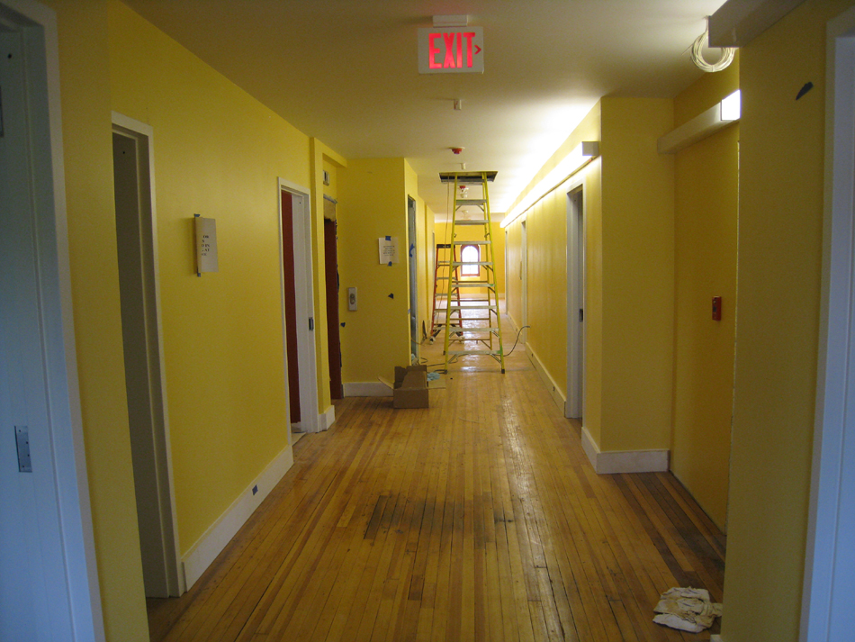 Third Floor--Main corridor from west looking east—finished - May 23, 2011