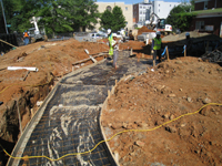 Grounds--Sidewalk construction - June 2, 2011