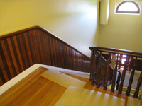Third Floor--Finished landing and stair rail and sides - June 2, 2011
