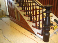 First Floor--Main staircase railings, finished, detail - June 2, 2011