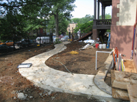 Grounds--South side with new sidewalks looking west - June 10, 2011