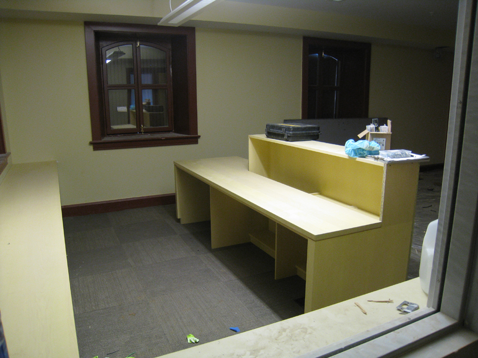 Ground Floor (Basement) --Northwest corner (reception) room) as a visitor would see it - June 10, 2011