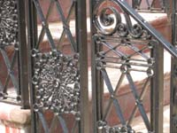 Elevation--North side showing newly restored and installed ironwork, detail - June 17, 2011