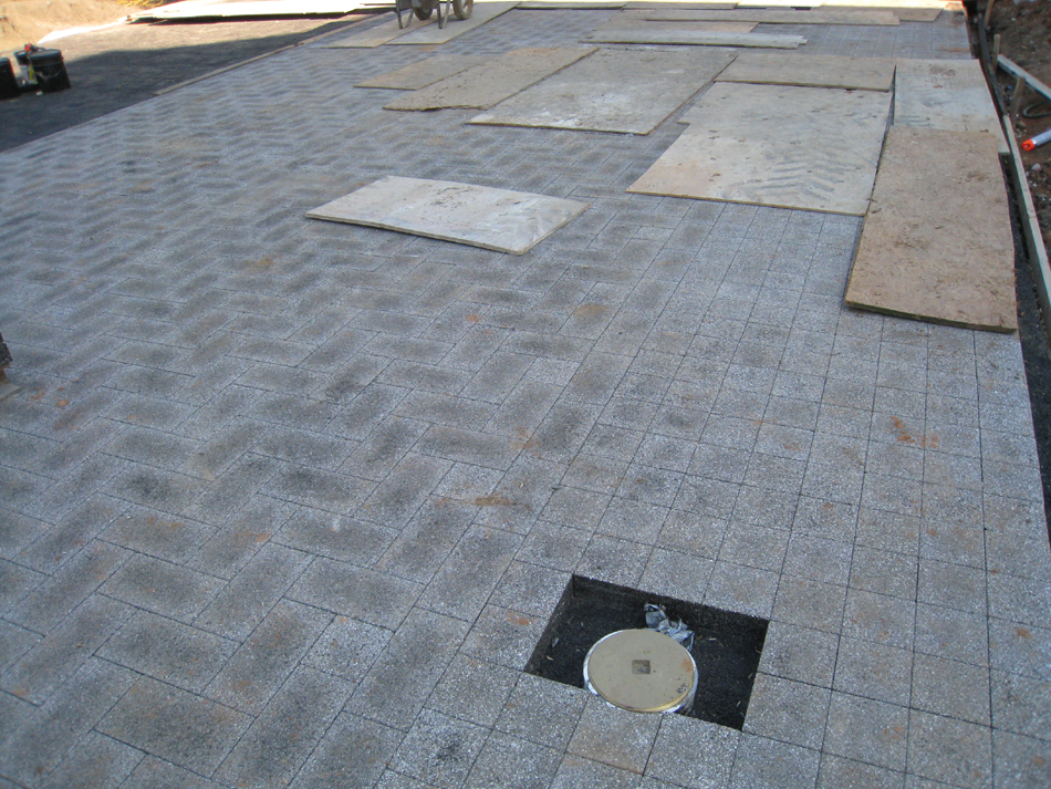 Grounds--Parking pad (detail) - June 29, 2011