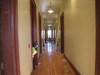 First Floor--Looking west in main corridor - June 29, 2011