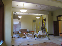 Second Floor--Large central room--lighting being installed - June 29, 2011