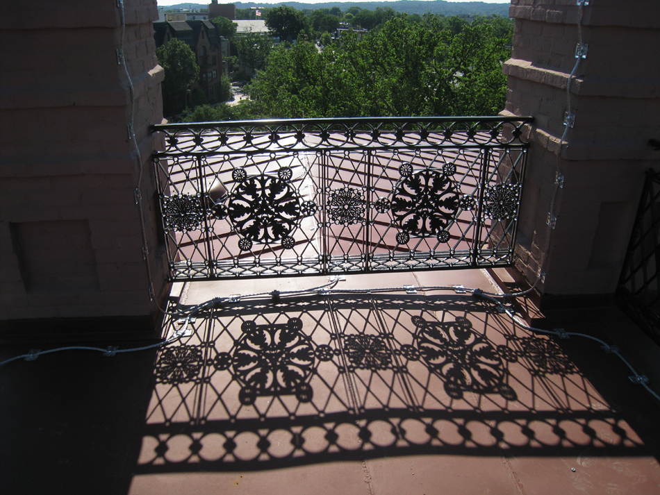Roof--Ironwork on the east side - June 29, 2011
