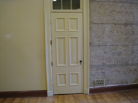 Doors and Windows--Original door with original hardware on first floor central room on east side - July 9, 2011