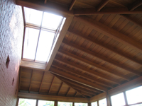 Carriage House--Ceiling--African mahogany and skylight - July 18, 2011