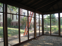 Carriage House--Frame and windows installed - July 18, 2011