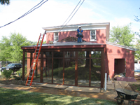 Carriage House--Work on the roof - July 18, 2011