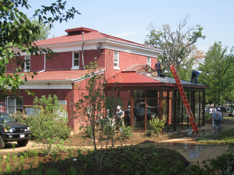 Carriage House--Working on addition - July 18, 2011