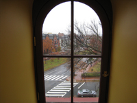 Third Floor--View out of east corridor window - November 16, 2011